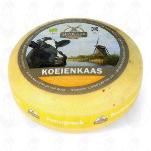 Organic Gouda au fenugrec Cheese | Fromage Gouda de qualité supérieure | Fromage entier 5,4 kilo