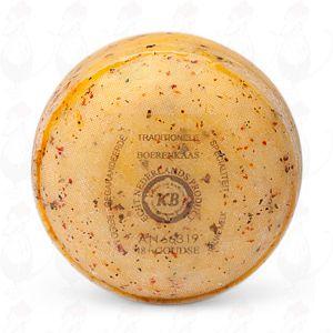 Gouda Bauernkäse Italienische Kräuter, 1 Pfund  | 400 Gramm | Premium Qualität