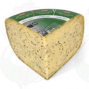 Basil garlic Gouda Organic Biodynamic cheese - Demeter