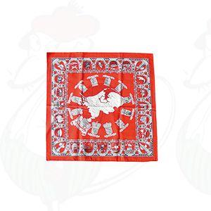 Zakdoek Landkaart - 61x61 cm