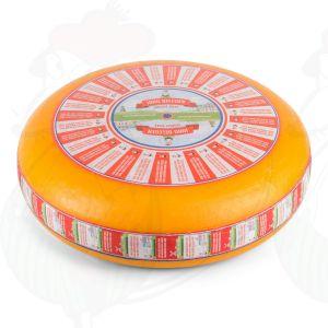 Fromage Gouda demi-affiné| Fromage Gouda de qualité supérieure | Fromage entier 12 kilo