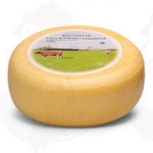 Young matured Organic Gouda cheese | Premium Quality | Entire cheese 5,4 kilo / 11.9 lbs