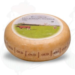Vieux fromage bio | Fromage Gouda de qualité supérieure | Fromage entier 4,5 kilo
