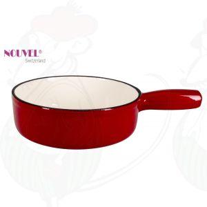Fonduepan rood/wit - 22cm Ø