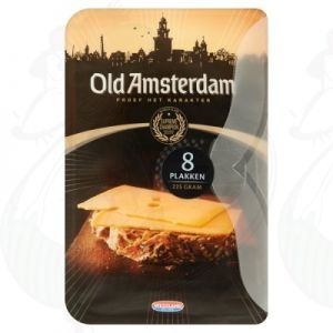 Sliced cheese Old Amsterdam 48+ | 225 grams in slices
