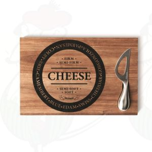 Cheese board with knife 30x20 cm - Salt and Pepper