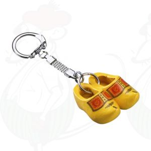 Keychain with 2 Yellow Clogs