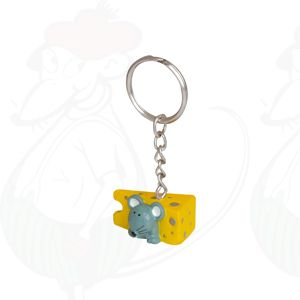 Keychain cheese and mouse